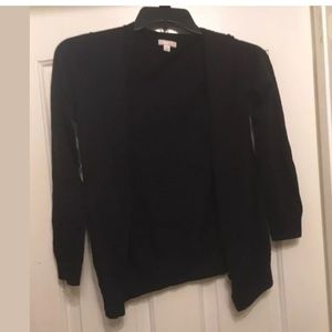 Gap solid black button front cardigan